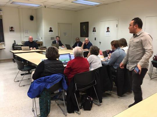 Members of Burlington's school administration met with