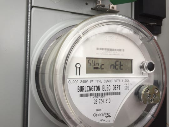 """An advanced, """"smart"""" electric meter in Burlington collects,"""