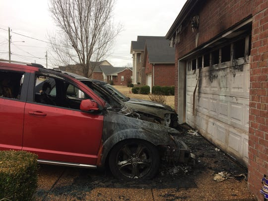Two vehicles at the home of William Lytton in Bordeaux sustained substantial damage.