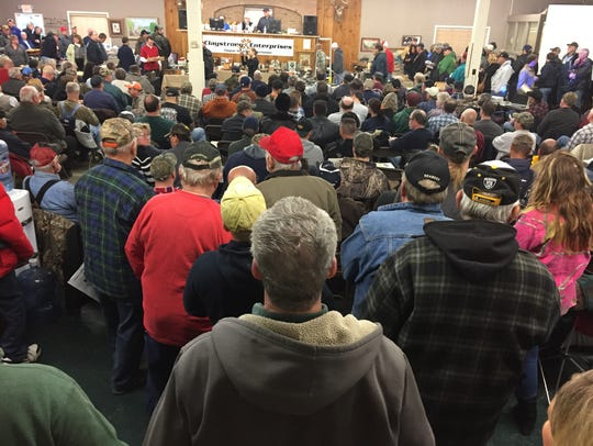 Hundreds of potential buyers crowded the Claystrong