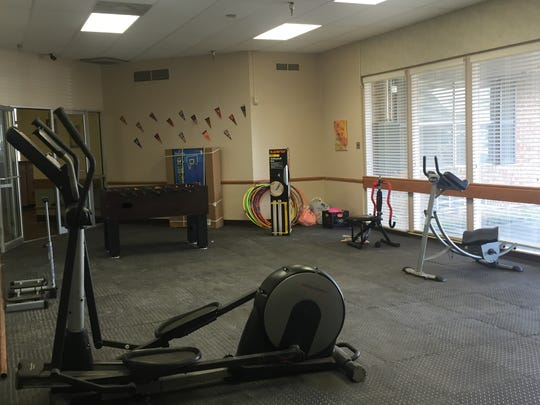 An exercise room inside the L.L. Brandon III Transitional