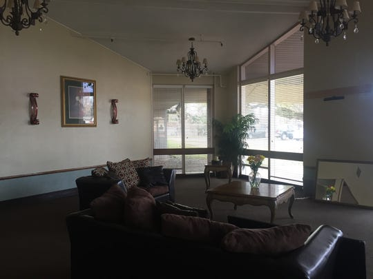 The lobby area of the L.L. Brandon III Transitional