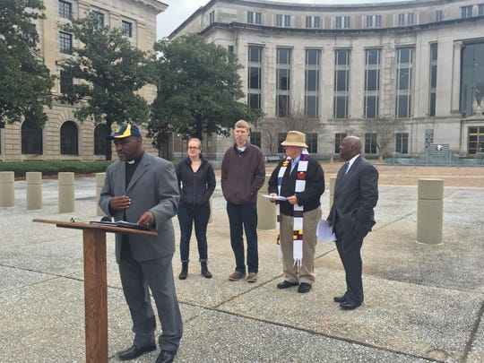 Rev. Rayford Mack and other NAACP members speak out