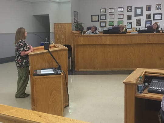 Kristin Perry, who lives on Sugar Hill Court, tell