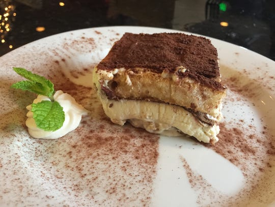 Tiramisu dessert a nice way to end lunch.