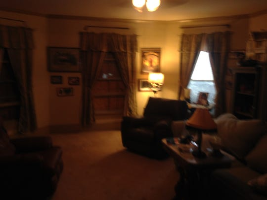 The den in Terry and VIckie White's home in Mappsville,