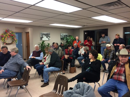 There was standing room only at the Cross Plains commission