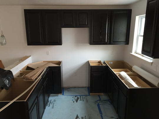 The kitchen in the Habitat for Humanity house Aileen Otero and her family soon will move into is nearly finished.
