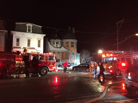 Firefighters respond to a scene in the 100 block of