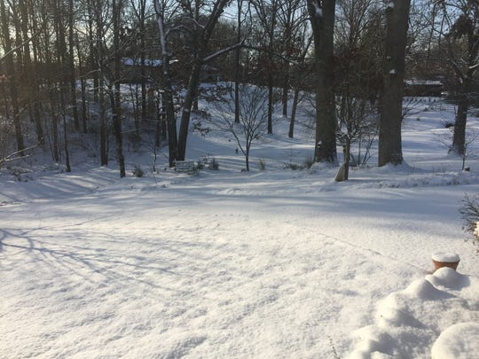 About 3 inches of snow cover Arthur Harmon Road in Kimberlin Heights community in South Knox County on Saturday.