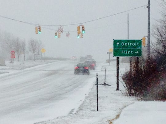Snow is forecast for the Detroit area this week. file