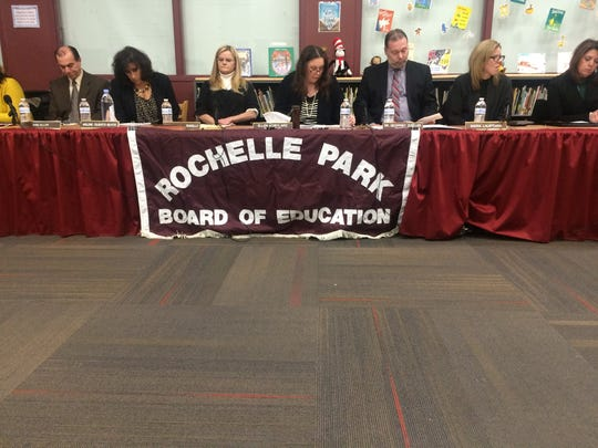 Members of the Rochelle Park Board of Education during its annual reorganization meeting on Thurs., Jan. 5, 2017.