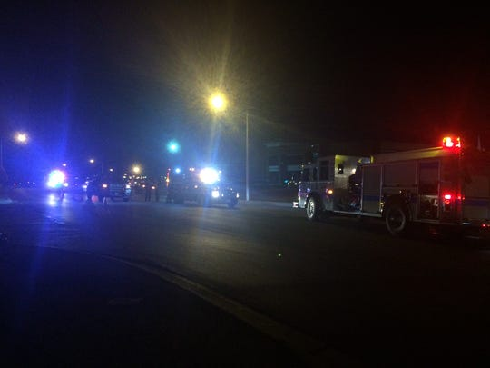 Motorcycle crash at Knickerbocker Road and Red Bluff