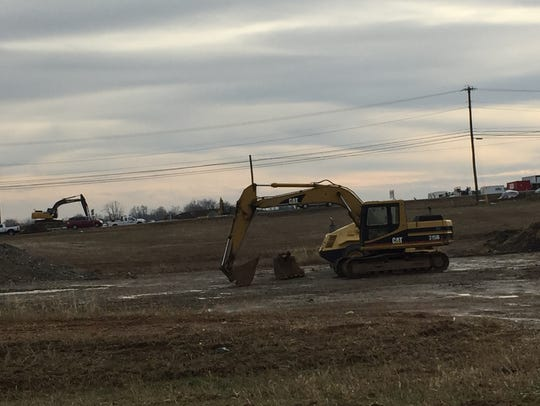 A road realignment project is underway in S. Annville