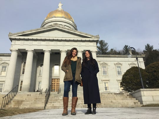 Elise Greaves, left, and Katie McCarty of Rights and Democracy Vermont are helping to organize the Women's March on Montpelier on Saturday, Jan. 21.