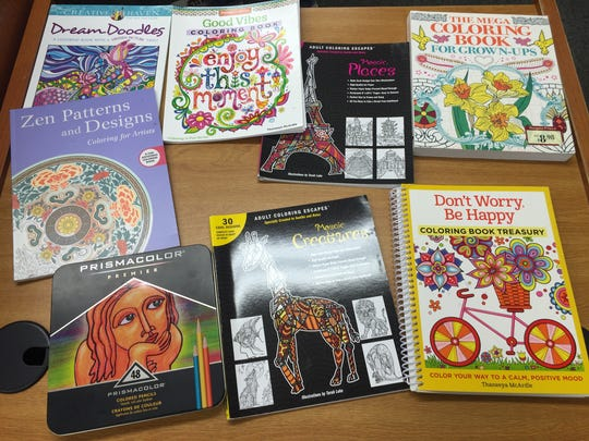 Come to the Lyndhurst Public Library and experience the latest trend in relaxation, adult coloring books