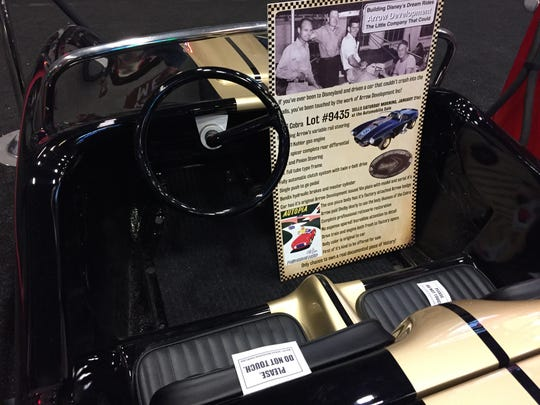 This gas-powered miniature car from Disneyland's Autopia ride is up for auction at Barrett-Jackson Scottsdale on Jan. 21, 2017.