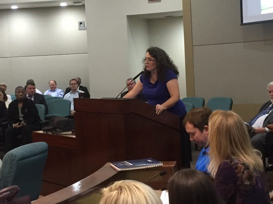 Kim Ross of Floridians Against Fracking urged Leon's Legislative Delegation to support a statewide fracking ban.