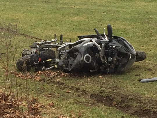Two people were sent to the hospital after a crash in the 4400 block of Cristland Hill Road in Hebron Saturday afternoon.