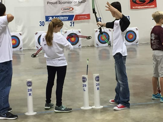 Hundreds of area youth shot in Saturday's ALAS competition  at the Shreveport  Convention  Center.