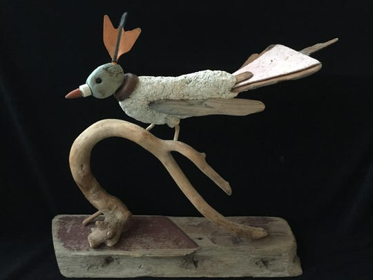 "Alburtus Gorman's sculpture ""Falls Pheasant"" is in the exhibit ""Cross Currents"" Courtesy Craft(s) Gallery & Mercantile."