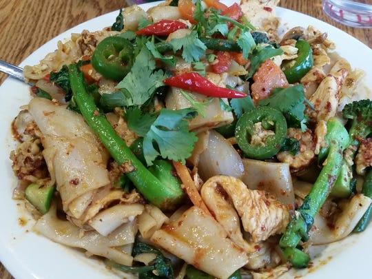 Drunken Noodles from Thai Mii Up.