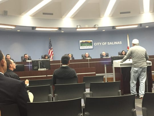 Salinas City Council meeting on Tuesday evening