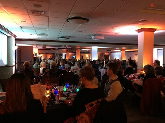 A record crowd of more than 300 Richland Area Chamber of Commerce members attended the Chamber's annual dinner Wednesday at the Kehoe Center.