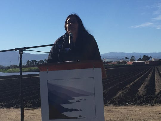 Big Sur Land Trust president/.CEO Jeannette Tuitele-Lewis during Wednesday's press conference