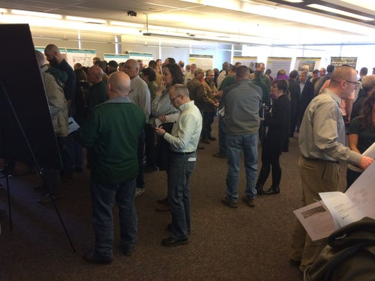 About 300 people attended an open house Friday at the Lory Student Center to learn more about plans for game-day operations at the on-campus stadium at CSU scheduled to open this fall.