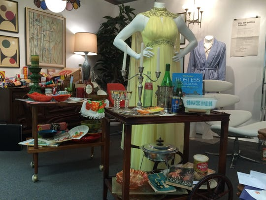 An exhibit of 'Mad Men' fashion, set decor and props