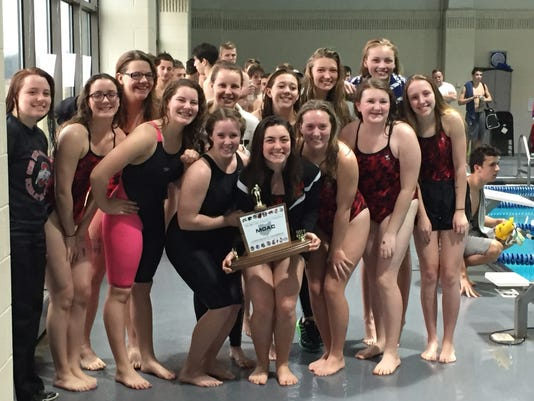 Pleasant MOAC girls swimming champions