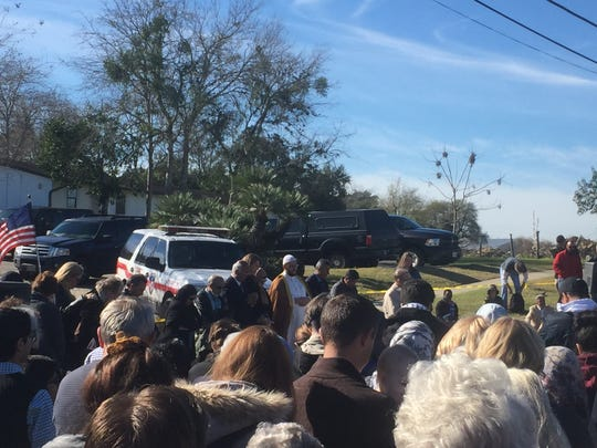Members of Corpus Christi's Islamic Society of Southern Texas traveled to Victoria on Sunday, Jan. 29, 2017, to support the members of mosque that burned the day before.