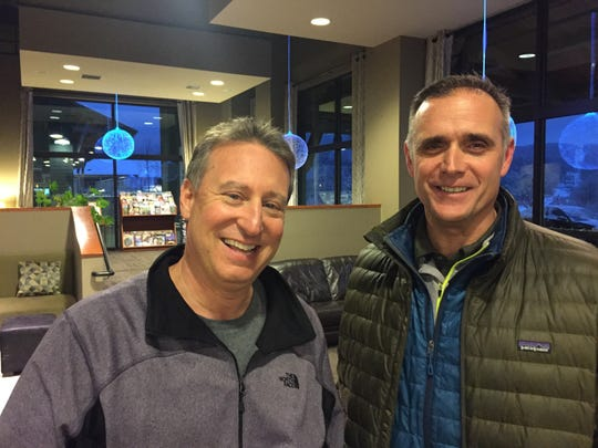 Michael Goldberg (left), the federal receiver put in charge of Jay Peak and other properties affected by the alleged EB-5 fraud, and Steve Wright, general manager of Jay Peak.