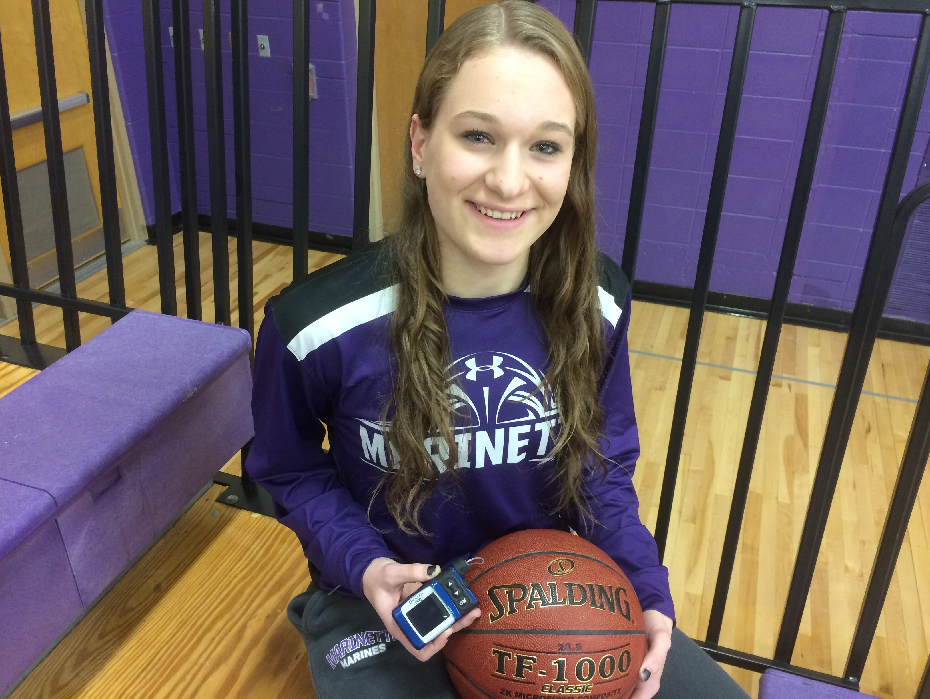 Marinette senior Jordan Miller has Type 1 diabetes and has been using an insulin pump she was 8. She has a 3.9 GPA and competes in volleyball, basketball and softball.