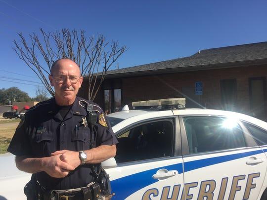 Cpl. Ken Davis with Caddo Parish Sheriffs office stands