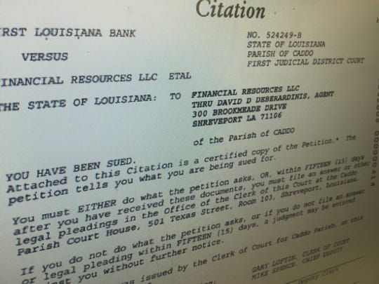Court records showing a citation in a case where David