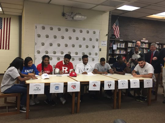 National Signing Day at Piscataway High School.