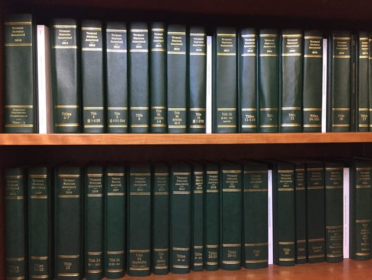 Books of Vermont statutes are stored at the Statehouse