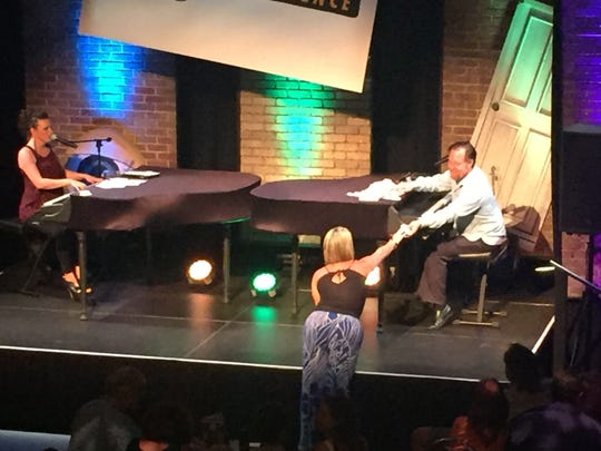 The dueling pianos of the Howl at The Moon Experience create a high-energy music show that will have audiences singing and dancing at the Riverside Theatre. The next show is 7:30 and 9:30 p.m. Feb. 17-18.