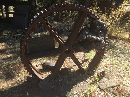 A sand-cast cog wheel came from the old Dry Mill on