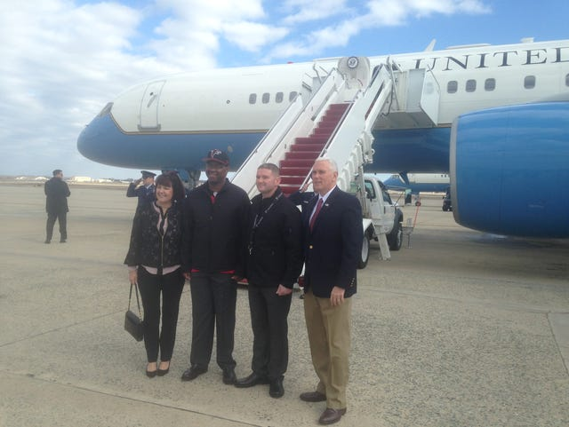 e8d707f78 Pence's plane is more than a 'decent ride,' but not quite Air Force One