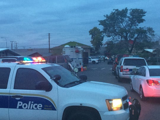 Police were investigating after a man was found dead