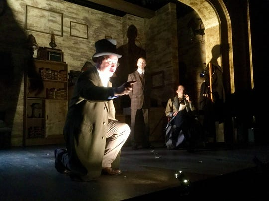 """This trio is just getting started on what they plan to be a chilling production of """"The Hound of the Baskervilles"""" at Gulfshore Playhouse, but the three of them have all 14 roles. Left, Philip Taratula, James David Larson and Jeffrey Binder."""