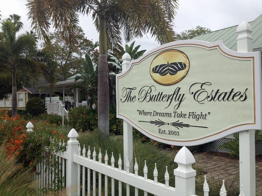 The Butterfly Estates in downtown Fort Myers.