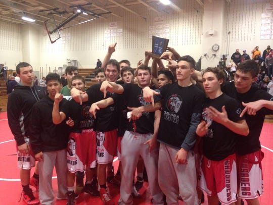 Delsea hoists the South Jersey Group 3 championship