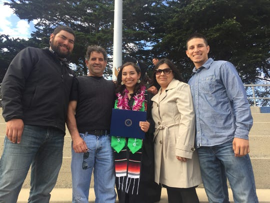 The Garcia family at Rivka's college graduation. From