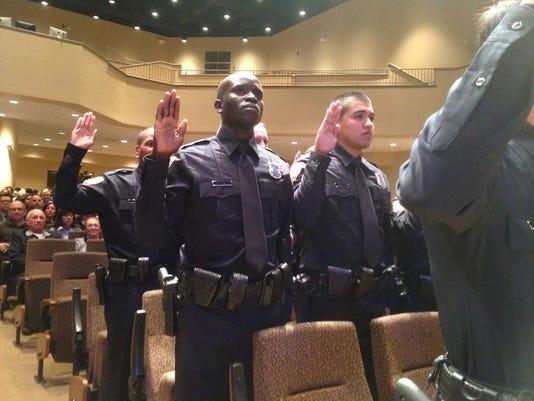 John Liom sworn in.