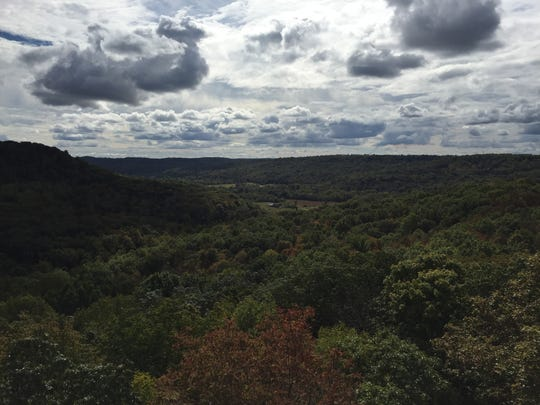 The view from atop Buzzardroost Rock, part of the Edge of Appalachia Preserve in Adams County.