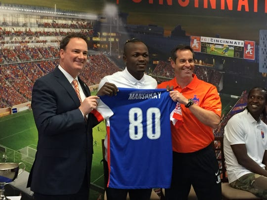 Victor ​Mansaray, 19, comes to Cincinnati with both Major League Soccer and international experience, and was named in August the top United Soccer League under-20 prospect.
